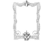 Floral Rectangular Frame - Design Image Source