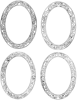 Four Oval Flower Frames - Design Image Source