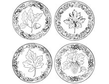 Set of Four Circles of Leaves - Design Image Source