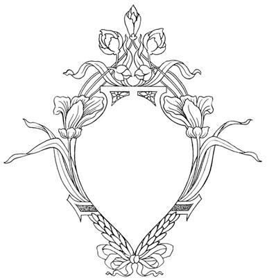 An Emblem-Shaped Floral Frame - Design Image Source