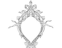 An Emblem-Shaped Floral Frame - Design Image Source