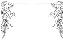 Two Decorative Corners with Flourishes - Design Image Source