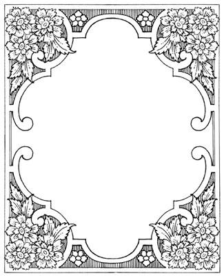 Decorative Floral Frame - Design Image Source