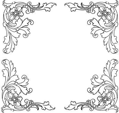 Four Decorative Floral Corners - Design Image Source