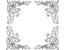 Four Decorative Floral Corners - Design Image Source