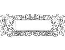 Rectangular Floral Frame - Design Image Source