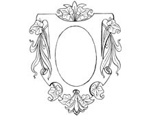 Oval Emblem Frame with Leaves - Design Image Source