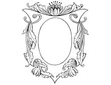 Oval Emblem Frame with Flower on Top - Design Image Source