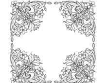 Four Decorative Flower Corners - Design Image Source