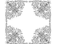 Four Decorative Flower Corners - Design Image Source