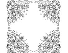 Four Ornate Floral Corners - Design Image Source