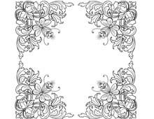 Four Ornate Floral Corners - Design Image Source