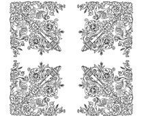 Floral Corners Clipart - Design Image Source