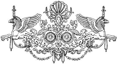 Elaborate Vintage Decoration with Griffins - Design Image Source