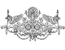 Elaborate Vintage Decoration with Griffins - Design Image Source