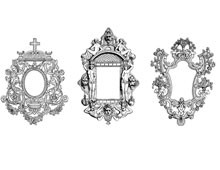 Three Decorative Vintage Frames - Design Image Source