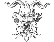 Clip Art of Demon Man with Horns - Design Image Source