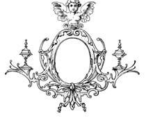 Vintage Oval Frame Clipart