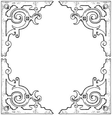 Vintage Corner Clip Art - Design Image Source
