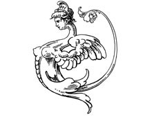 Winged Female Scroll Ornament - Design Image Source