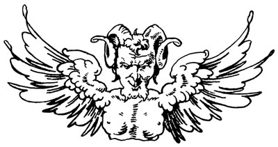 Bust of a Demon with Wings - Design Image Source