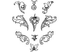 Flourishes Clipart - Design Image Source