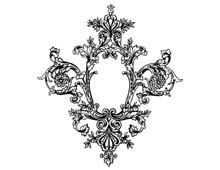 Fancy Oval Decorative Frame - Design Image Source