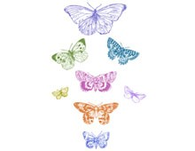 Colored Butterfly Clipart - Design Image source