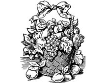 Clipart of Fruit Basket