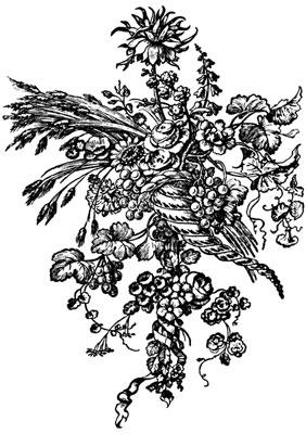 Bouquet of Flowers in Basket
