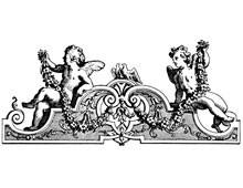Decorative Ornament with Cherubs