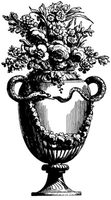 Clipart of Flowers in a Vase