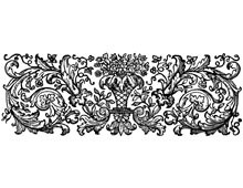 Vintage Floral Border Clip Art