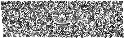 Vintage Flower Border Clip Art