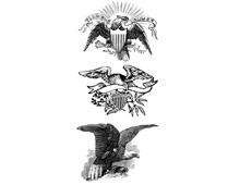 Patriotic Eagle Decorated Frame - Design Image Source
