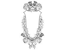 Shield Frame with Thistles and Ribbon - Design Image Source