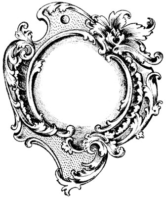 Round Frame with Leaves and Flourishes - Design Image Source