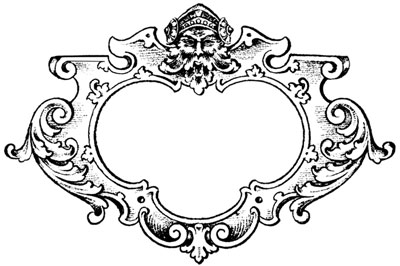Ornate Frame with Man's Head - Design Image Source