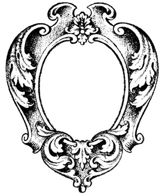 Oval Frame Picture - Design Image Source