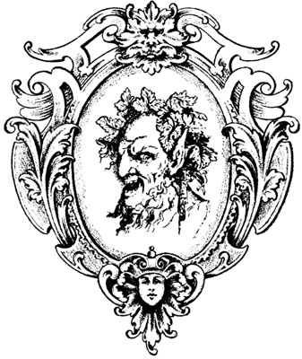 Highly Embellished Oval Frame with Demon Inside - Design Image Souce