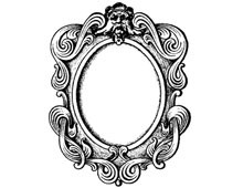 Oval Frame Picture with Man's Face - Design Image Source