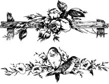 Two Floral Dividers - Design Image Source