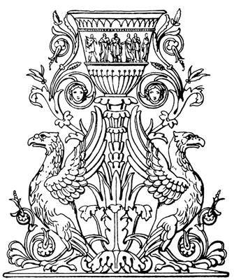 Ornate Vase with Griffins - Design Image Source