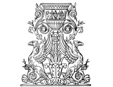 Ornate Vase with Griffins - Design Image Source