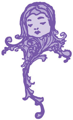 Purple Child Decorative Ornament