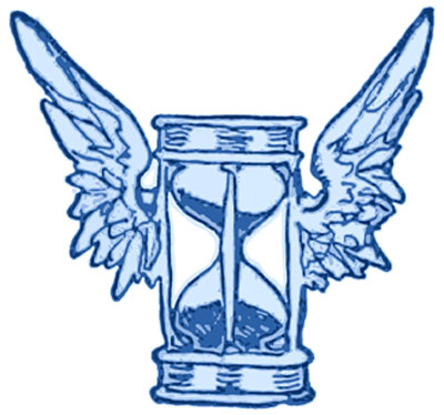 Hourglass with Angel Wings