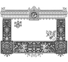 Vintage Floral Decorative Frame